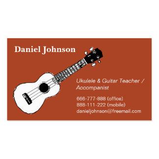 El bosquejo, casual, relaja al profesor del ukulel plantillas de tarjetas de visita
