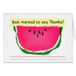 El bosquejo de la sandía le agradece tarjetas