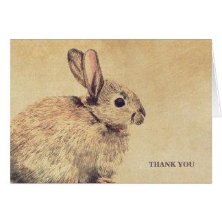 El bosquejo del conejo del estilo del vintage le a tarjetón