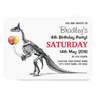 """El bosquejo del dinosaurio hincha a la fiesta de invitación 5"""" x 7"""""""