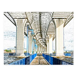 el bosquejo del puente jensen la playa postal