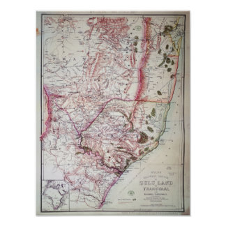 El bosquejo militar de Wyld de Zululand, 1879 Póster