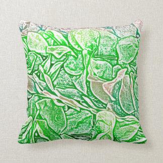 el bosquejo verde de los leus florece el fondo almohadas