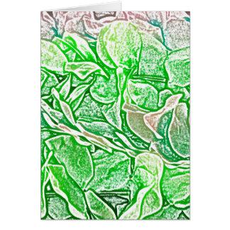 el bosquejo verde de los leus florece el fondo tarjetas