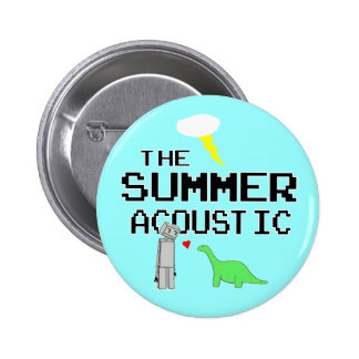 El botón acústico del verano pin redondo de 2 pulgadas