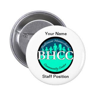 El botón BHCC del profesor Pin Redondo De 2 Pulgadas