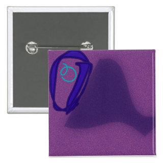 El botón cuadrado de la letra O Pin Cuadrado