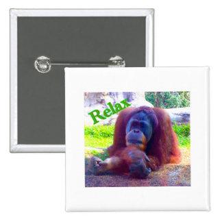 el botón de 2 pulgadas/el orangután cuadrados del pin cuadrado
