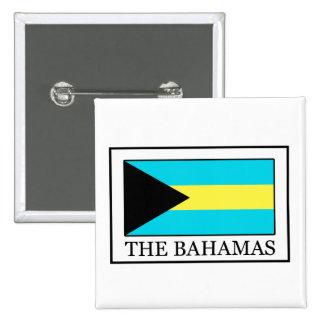 El botón de Bahamas Pin Cuadrado