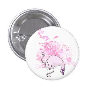 El botón de Calamar-chan Pin Redondo De 1 Pulgada