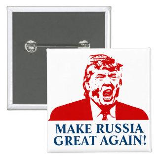 """¡El botón de Donald Trump """"HACE RUSIA GRETA OTRA Pin Cuadrado"""