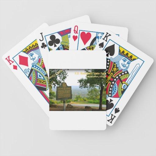 El BOTÓN de DOWDELL - parque de estado de F.D. Roo Baraja Cartas De Poker