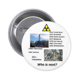 """¿El botón de encendido nuclear anti """"quién es sigu Pin Redondo De 2 Pulgadas"""