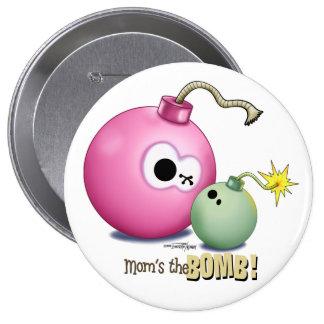 El botón de la bomba de la mamá pins
