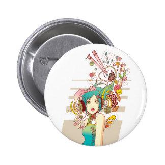 El botón de la creatividad pins