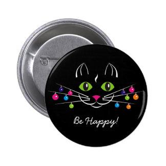 """El botón de la Feliz Año Nuevo """"sea feliz """" Pin Redondo De 2 Pulgadas"""