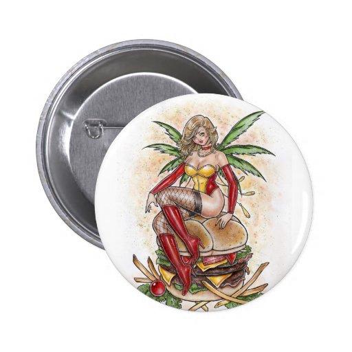 El botón de la hada de la hamburguesa pins