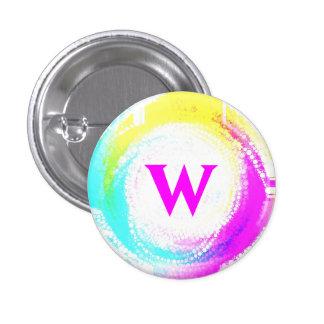 El botón de la letra W Pin Redondo De 1 Pulgada