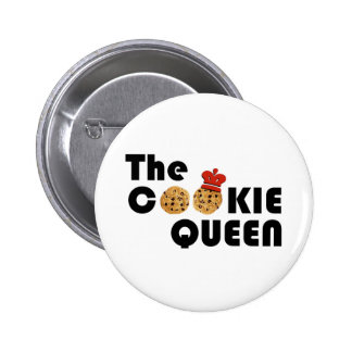 El botón de la reina de la galleta pin redondo de 2 pulgadas