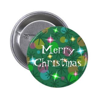 El botón de las Felices Navidad de las luces de na Pins