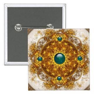 El botón de oro de la orquesta pin cuadrado