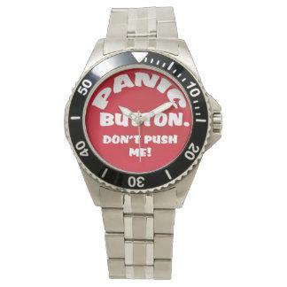 El botón de pánico no me empuja reloj