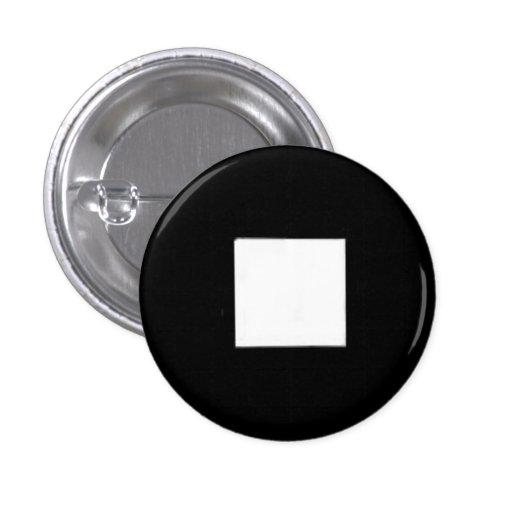 El botón de paro pin redondo de 1 pulgada