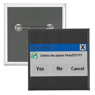 El botón de Plutón del planeta Pin Cuadrado