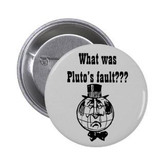 El botón de Plutón del planeta Pin Redondo De 2 Pulgadas