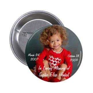El botón de Sophie Pin Redondo De 2 Pulgadas