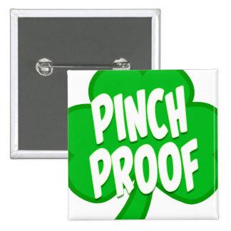 El botón de St Patrick del botón del cuadrado de Pin Cuadrado