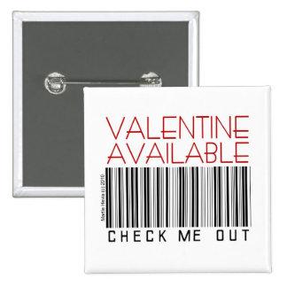 El botón del el día de San Valentín/Pin (1) - Pin Cuadrado