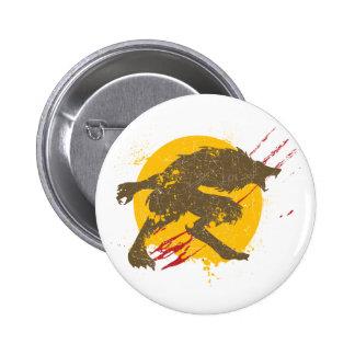 El botón del hombre lobo pin redondo de 2 pulgadas