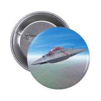 El botón del platillo volante pin redondo de 2 pulgadas