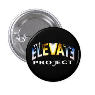 El botón del proyecto de la elevación pins