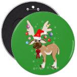 El botón del reno del navidad pins