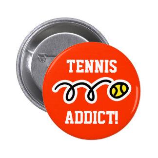 El botón del tenis para los jugadores y el tenis d