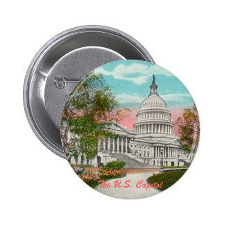 El botón del vintage del capitolio de los E.E.U.U. Pin