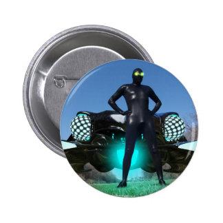 El botón del visitante 2 pin redondo de 2 pulgadas