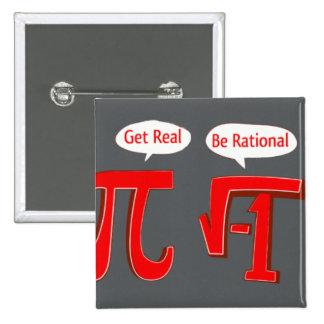El botón divertido consigue real - sea racional pin
