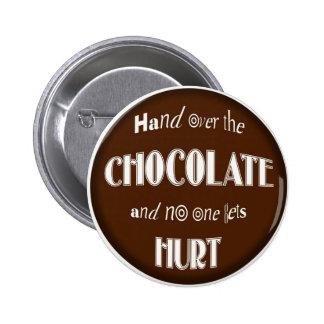 El BOTÓN entrega el CHOCOLATE Pins