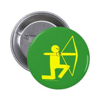 El botón/la insignia de Archer Pin Redondo De 2 Pulgadas