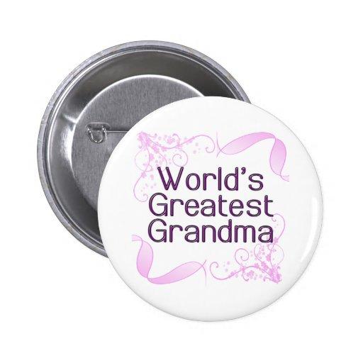 El botón más grande de la abuela del mundo pin