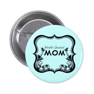 El botón más grande de la mamá del mundo floral de pin
