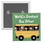 El botón más grande del conductor del autobús del  pins