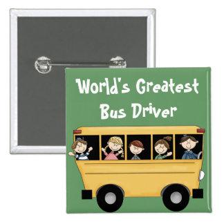 El botón más grande del conductor del autobús del