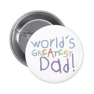 El botón más grande del papá de los niños pin