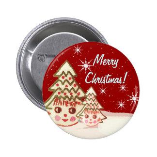 El botón más lindo del navidad - nunca pin redondo de 2 pulgadas