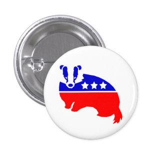 El botón OFICIAL del tejón del fiesta de la decenc