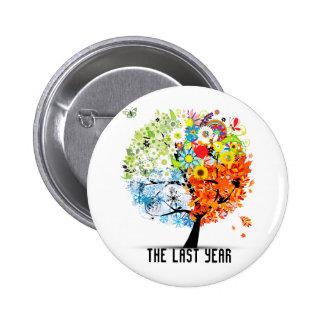 El botón pasado de la serie del año pin redondo de 2 pulgadas